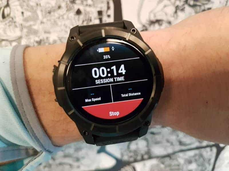 Nixon the Mission Smartwatch Session Tracking.