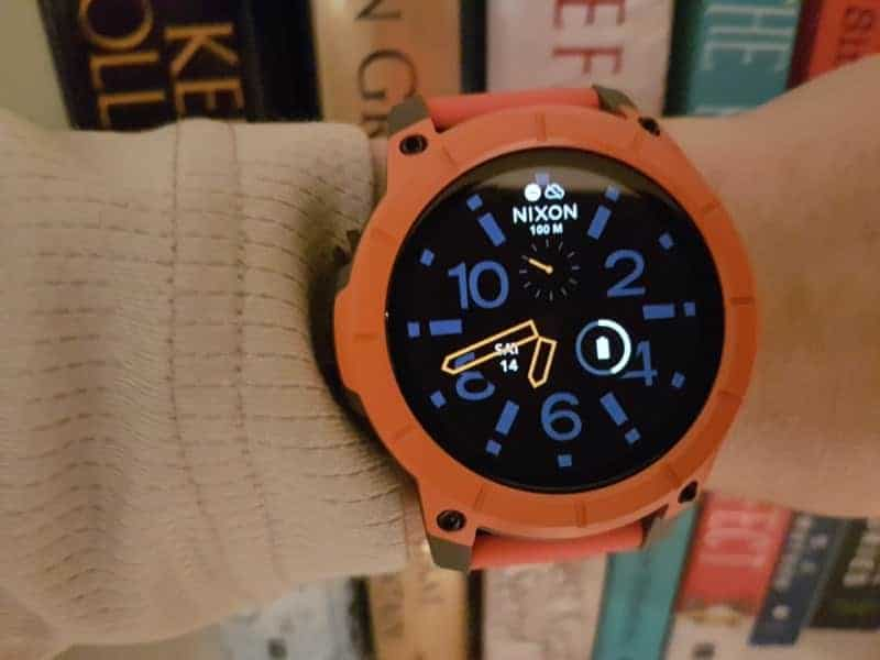 Nixon the Mission Smartwatch orange style.
