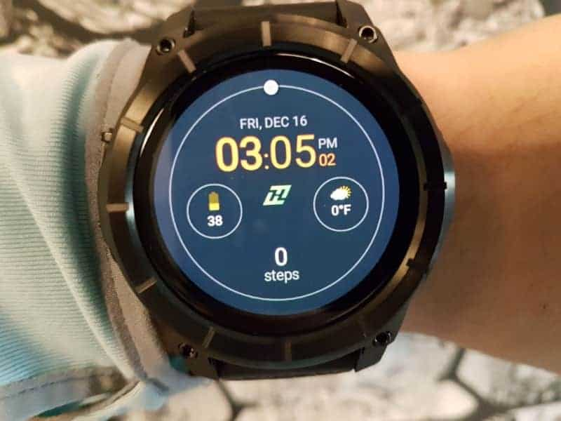 Nixon the Mission Smartwatch face with clock.