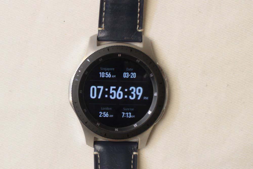 Samsung Galaxy Watch main screen