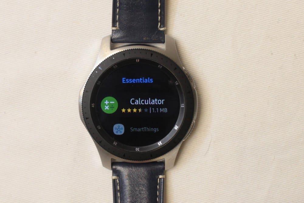 Samsung Galaxy Watch app store