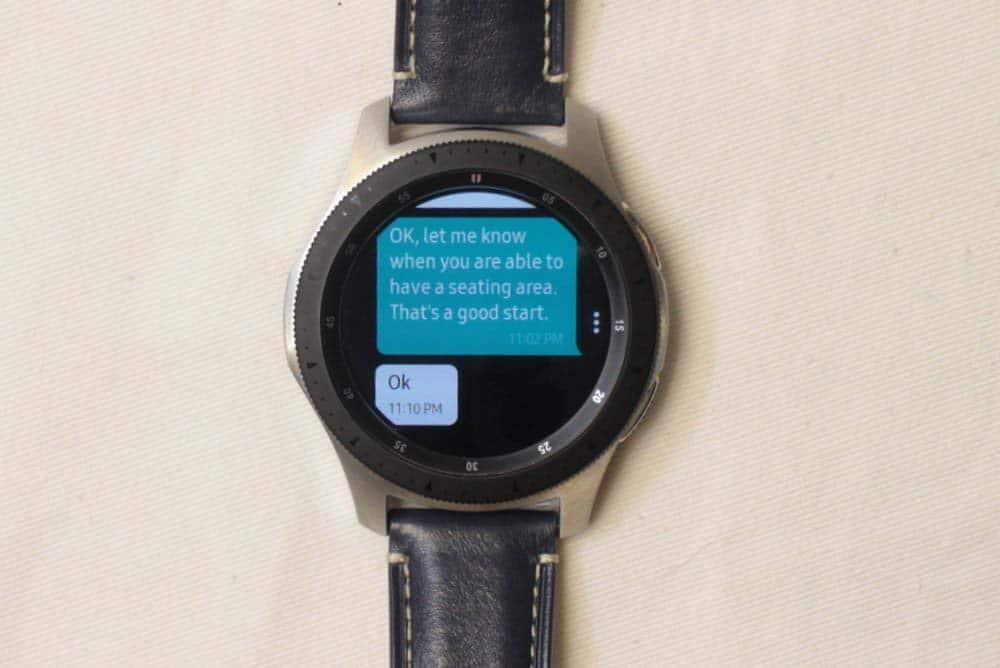 Samsung Galaxy Watch messages