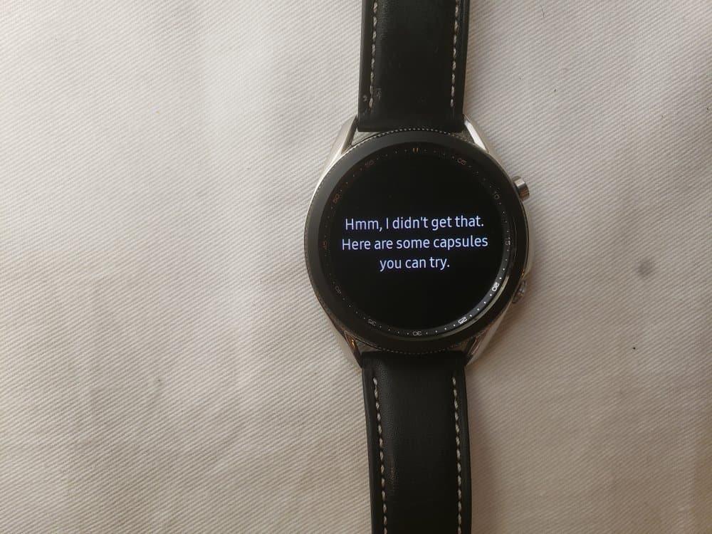Samsung Galaxy Watch3 Bixby response