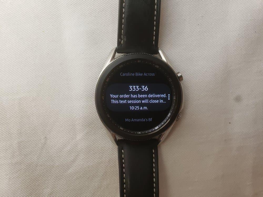 Samsung Galaxy Watch3 messages