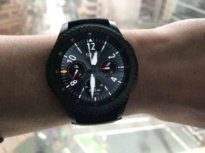 The face of Samsung Gear S3 Frontier Smartwatch.
