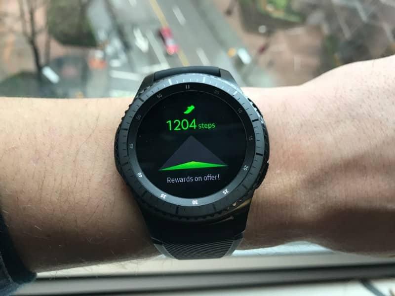 Steps taken screen on the Samsung Gear S3 Frontier Smartwatch