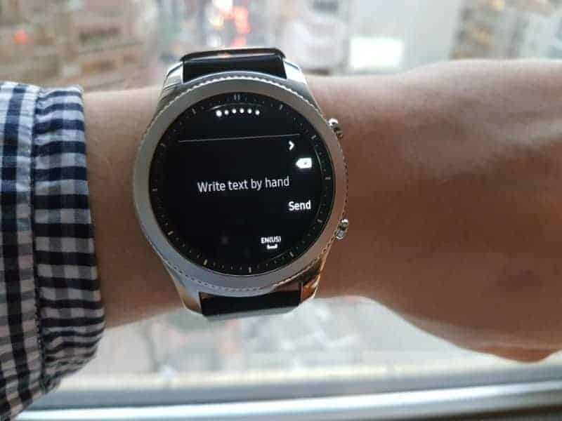Samsung Gear S3 Text Messages.