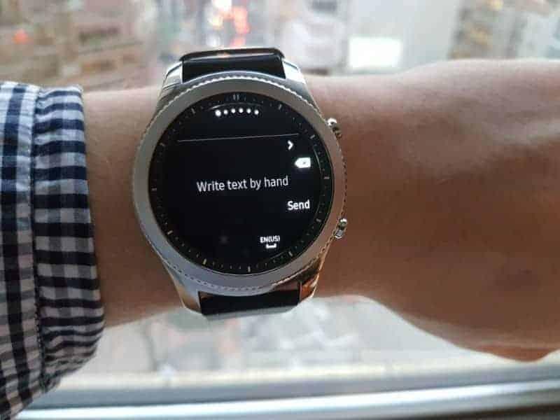 Samsung Gear S3 Text Messages.