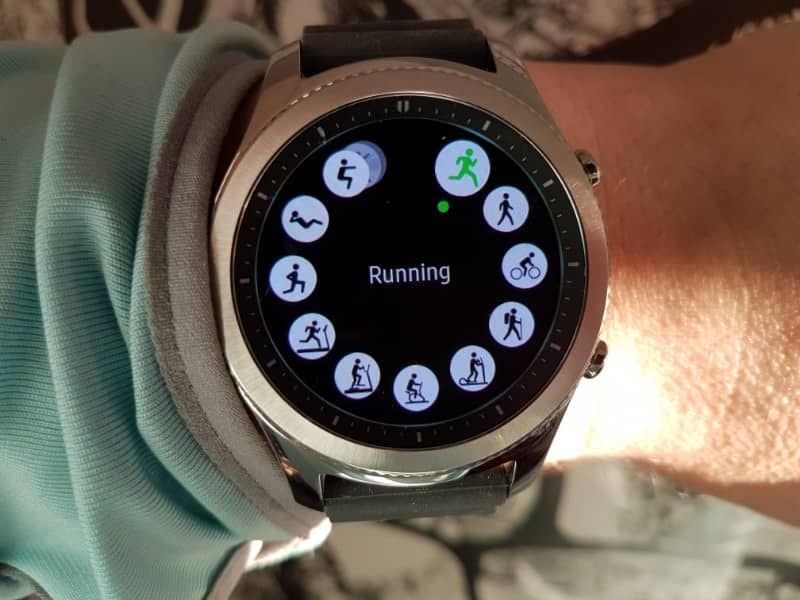 Samsung Gear S3 exercise.