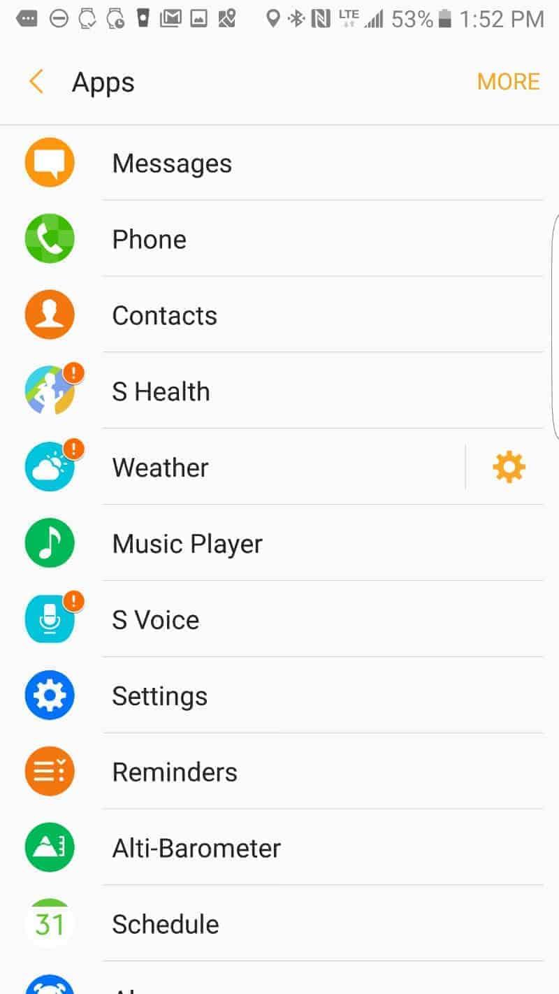 Samsung Gear S3 Apps.