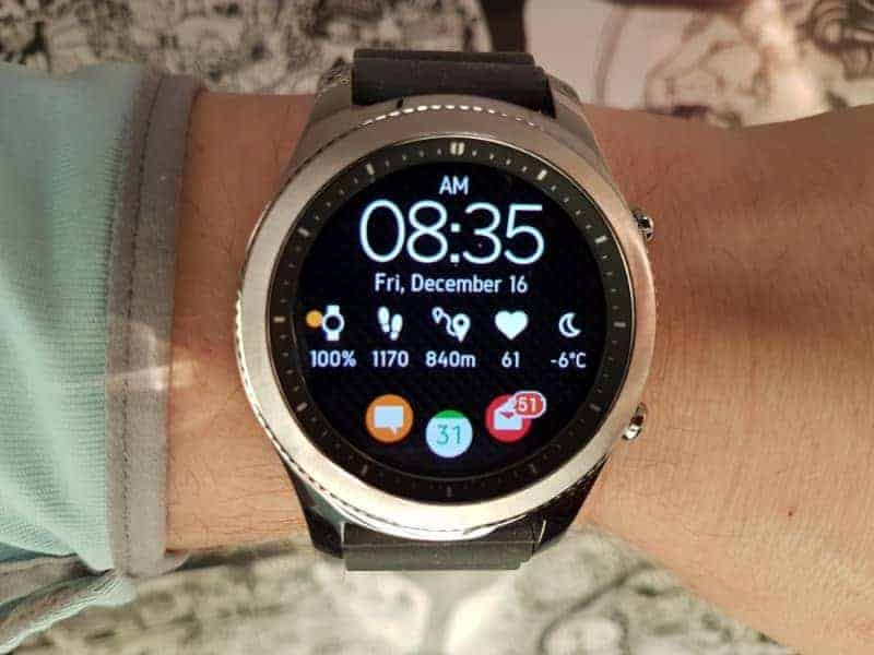 Samsung Gear S3 Smartwatch face.