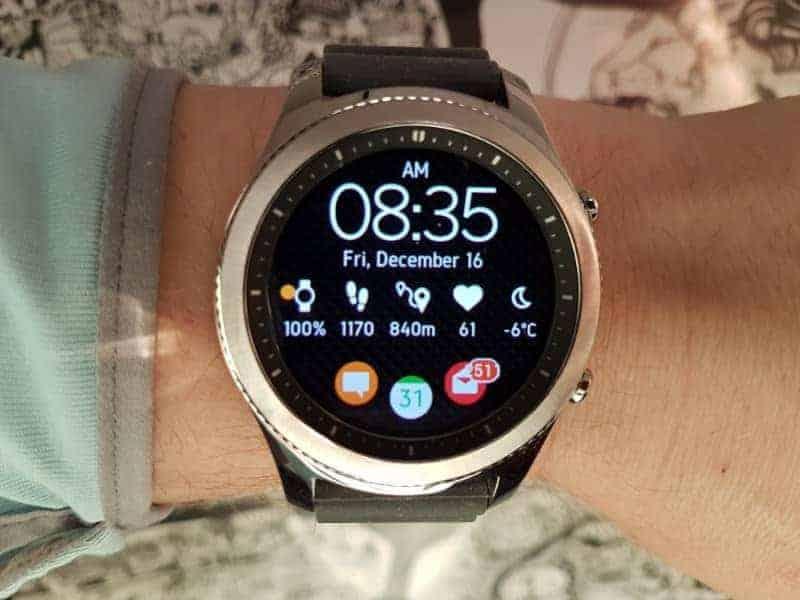 Samsung Gear S3 Smartwatch face.