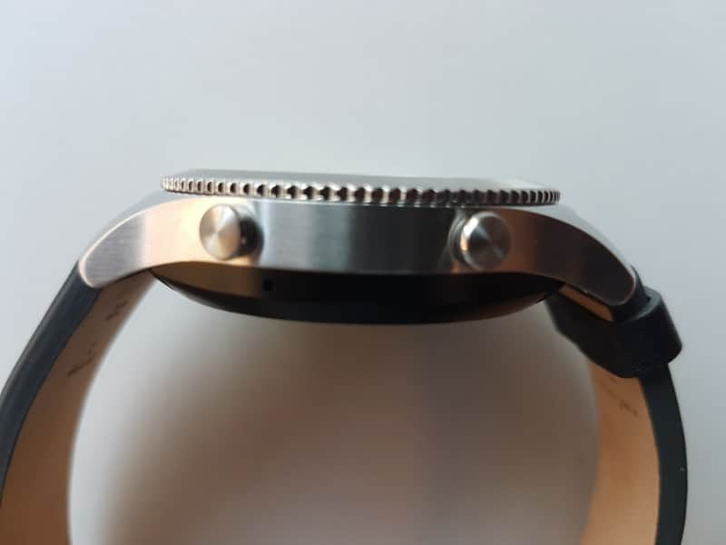 Samsung Gear S3 Smartwatch from the side.