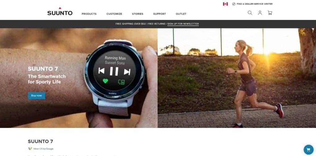 Suunto 7 website