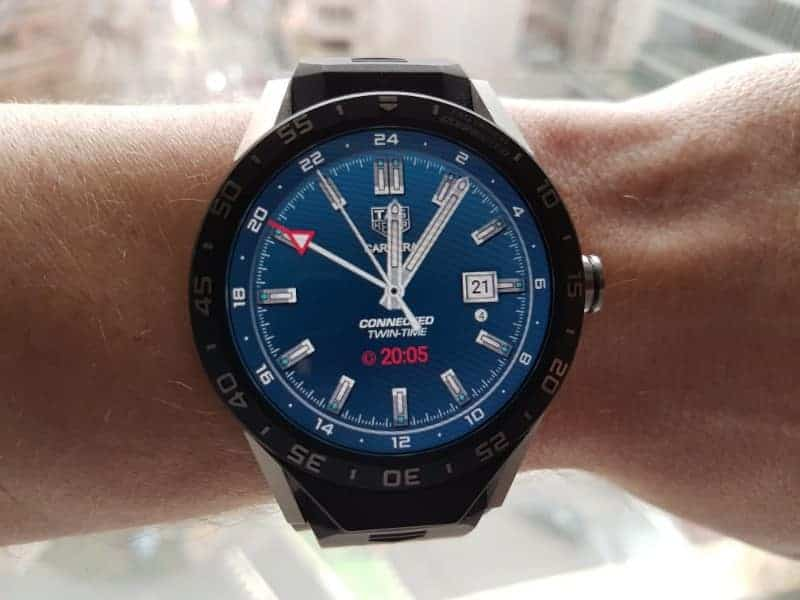 Tag Heuer Connected Smartwatch watch faces in GMT / Blue