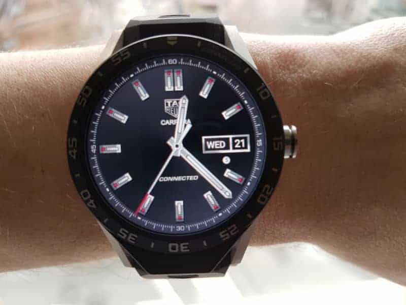 Tag Heuer Connected Smartwatch watch faces in Three-Hand / Black.