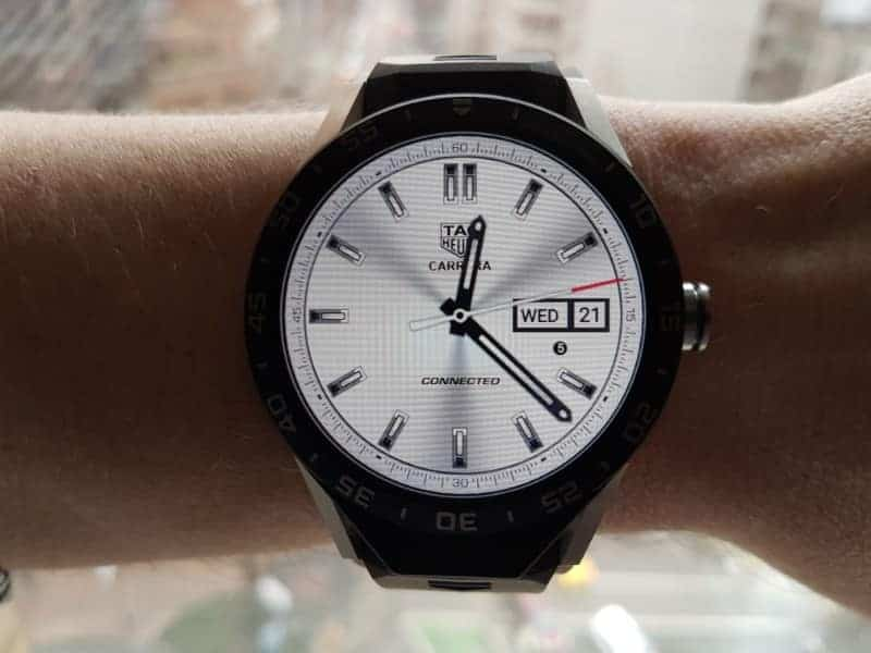 Tag Heuer Connected Smartwatch watch faces in Three-Hand / White.