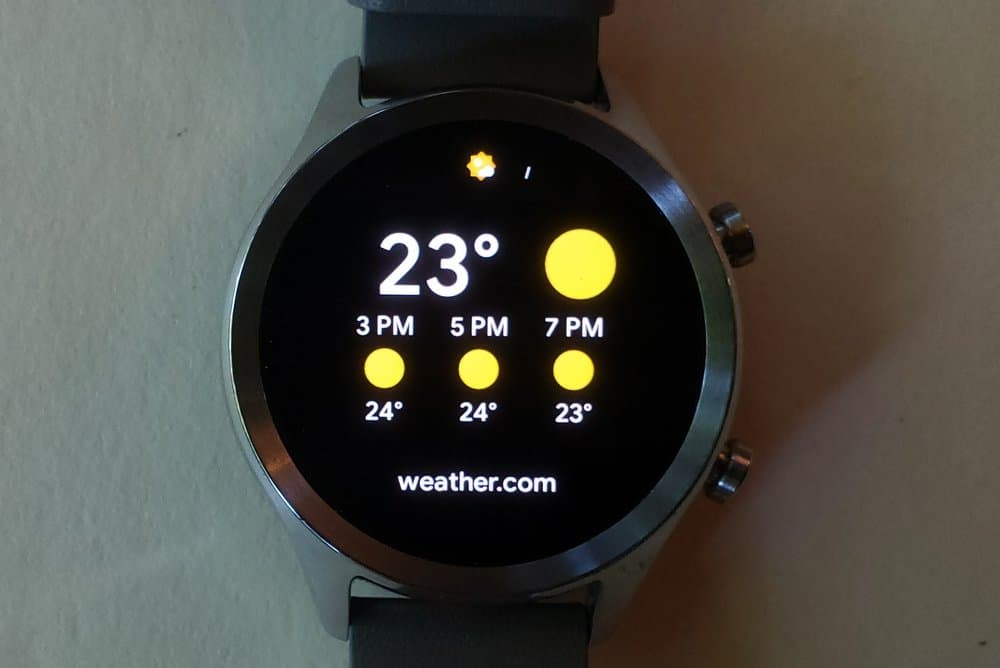 ticwatch c2 weather