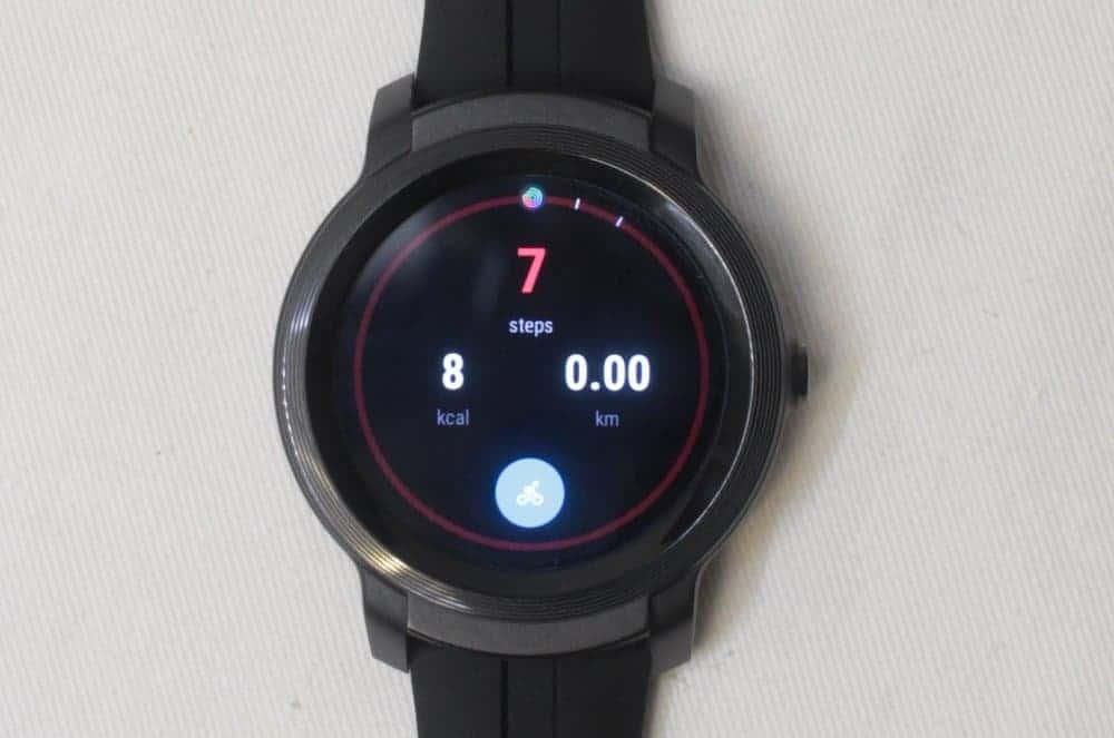 ticwatch e2 step counter