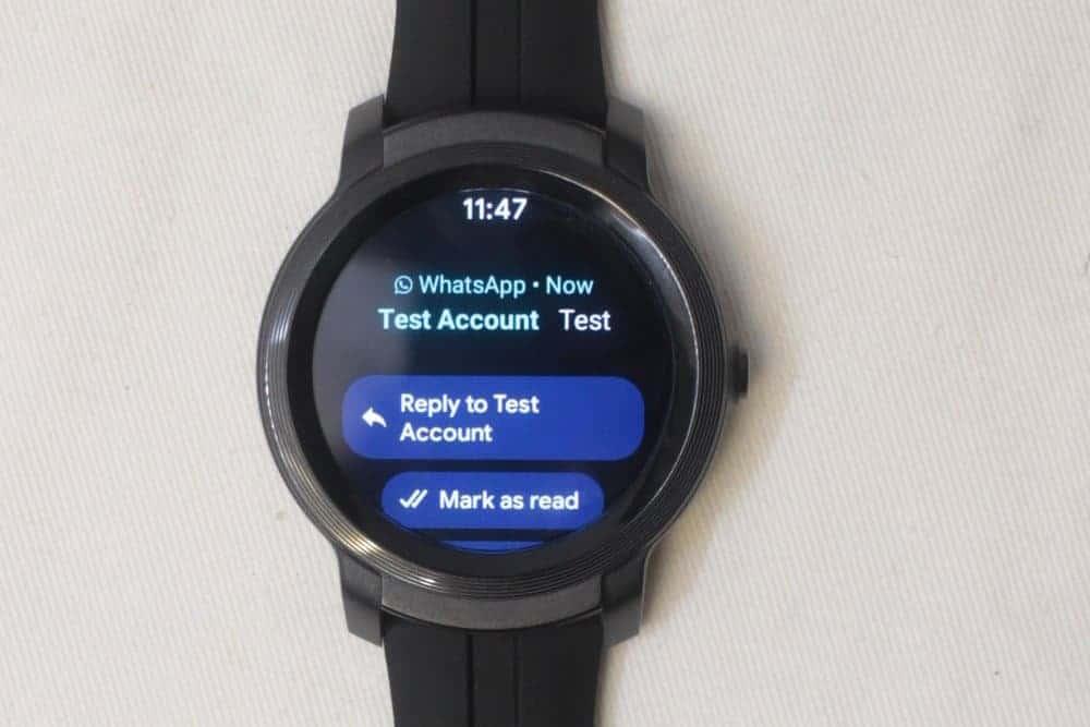 ticwatch e2 texts