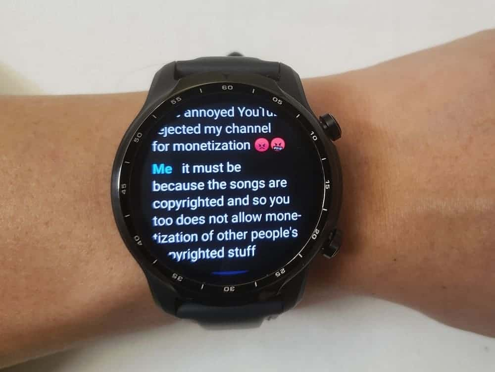 ticwatch pro 3 texts