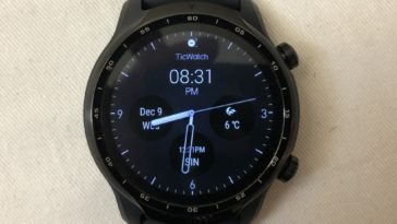 ticwatch pro 3 main screen