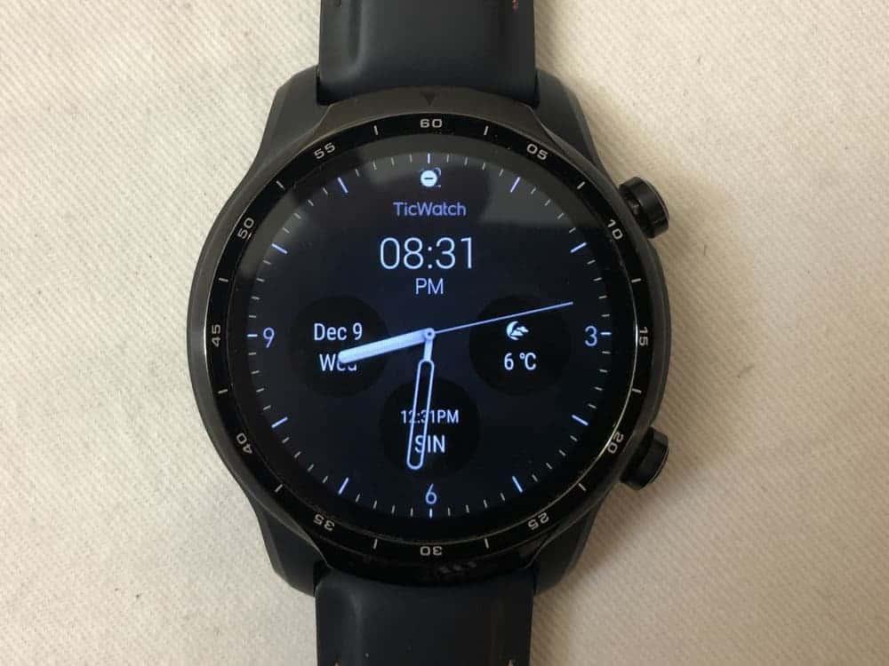 ticwatch pro 3 main screen