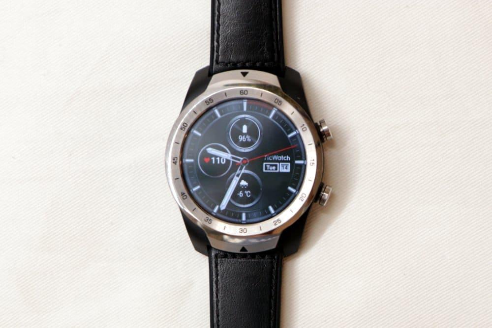 Ticwatch Pro main screen