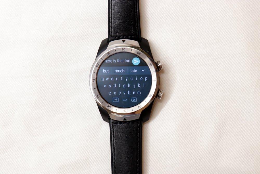 Ticwatch Pro texting