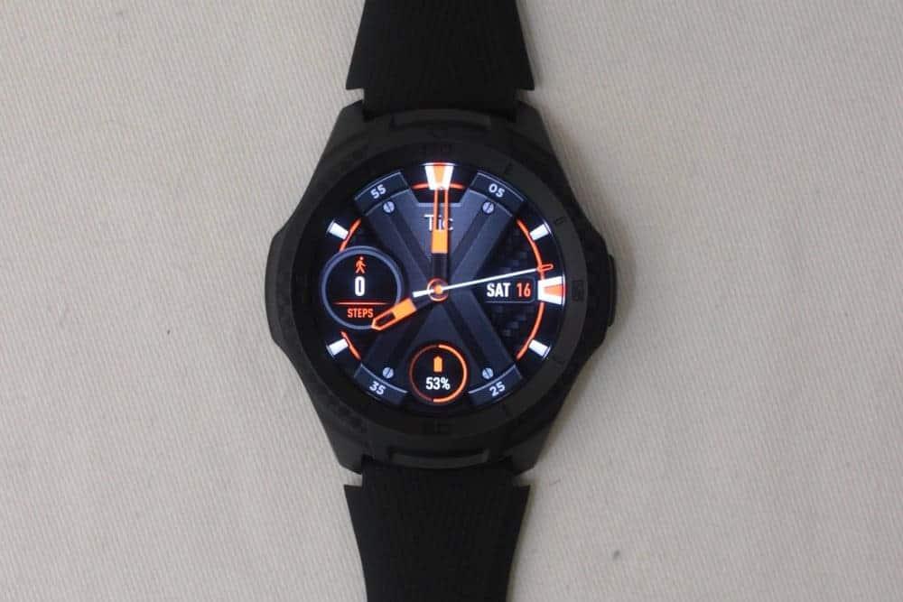 ticwatch e2 main screen
