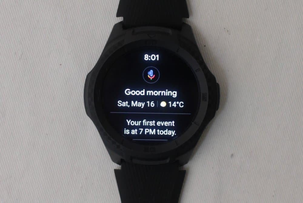 ticwatch e2 google assistant screen
