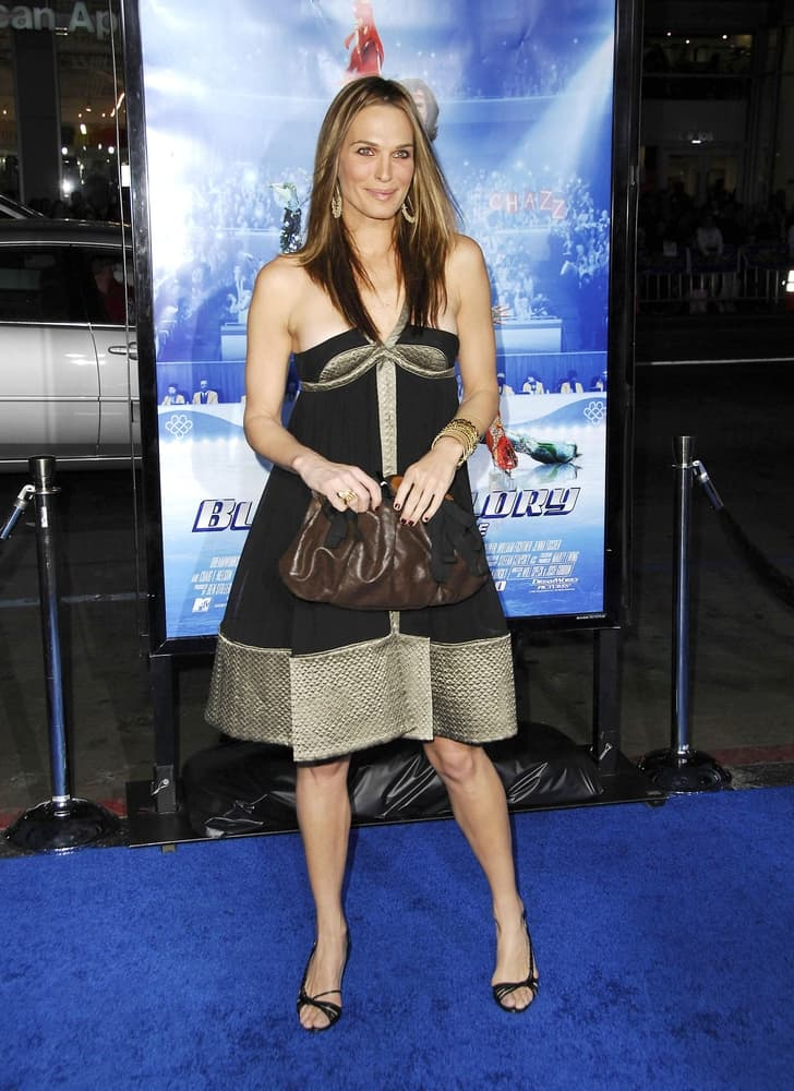 Molly Sims at Blades of Glory Premiere wearing a trapeze dress.