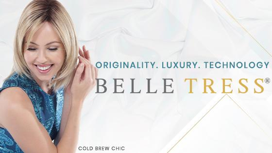 Belle Tress wig collection banner