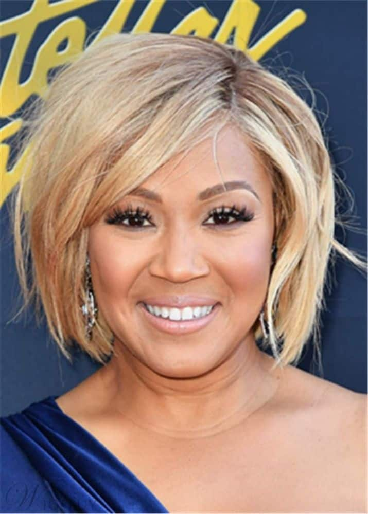 Erica Campbell Hair Cut Synthetic Straight Hair Capless Wig from WigsBuy.