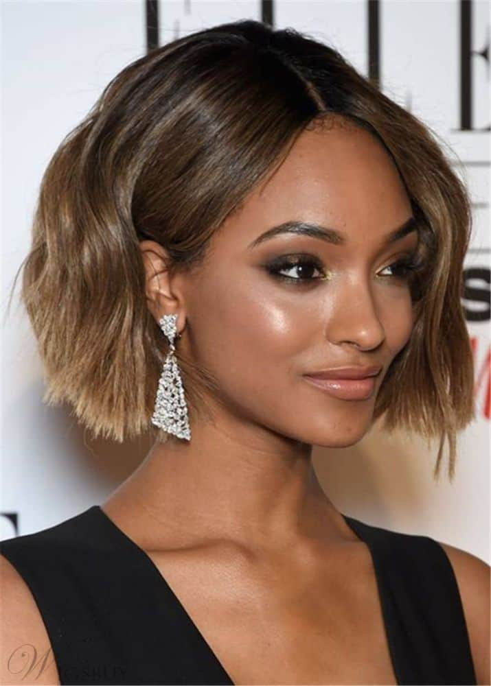 Bob Cut Hairstyle Synthetic Wavy Hair Capless from WigsBuy.