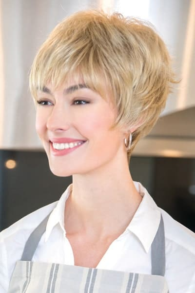 Monofilament Cap Wig with Synthetic Hair