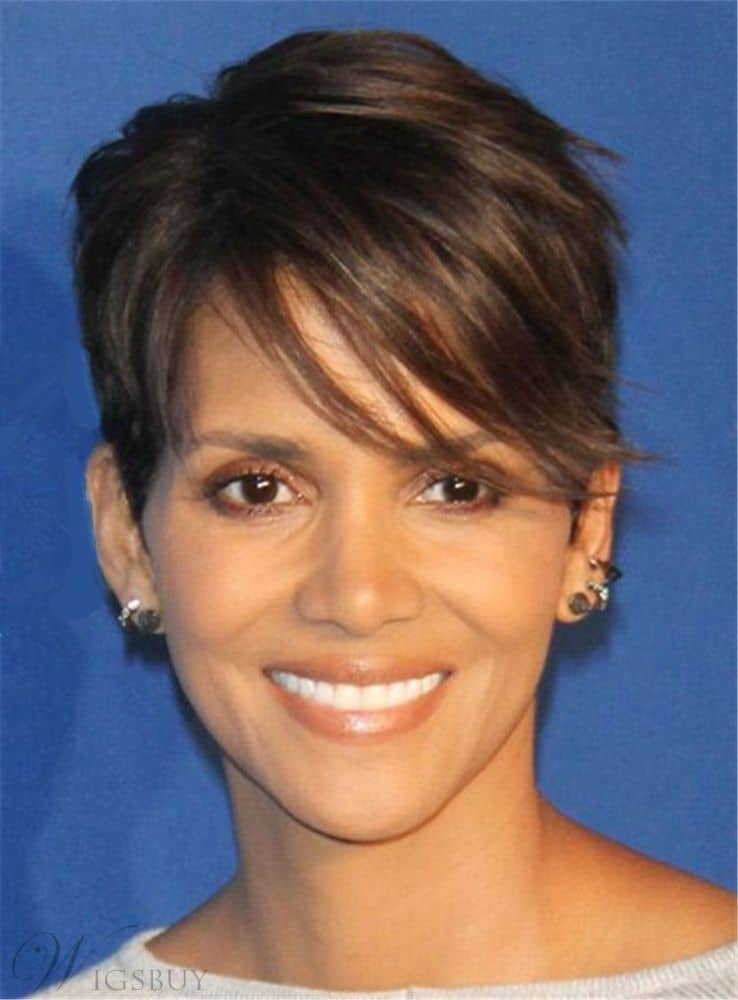 Halle Berry Pixie Boy Cut from WigsBuy.