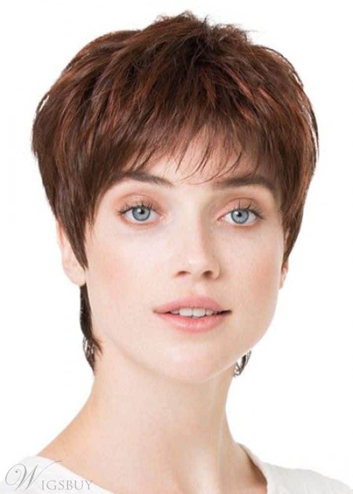 Pixie Cut Short Shaggy Hairstyle from WigsBuy.