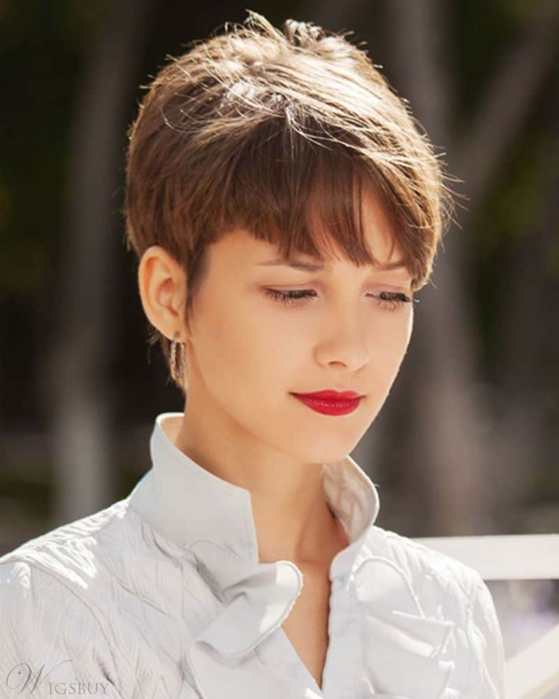 Pixie Cut Natural Straight Synthetic Hair from WigsBuy.