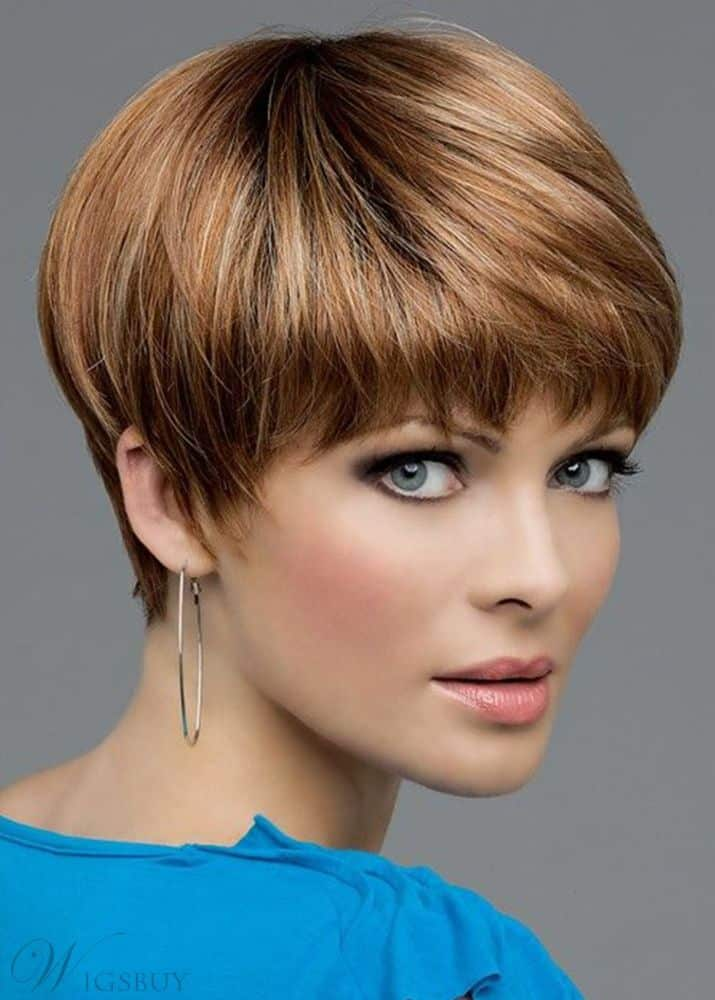 Brown Color Women's Short Pixie Cut from WigsBuy.