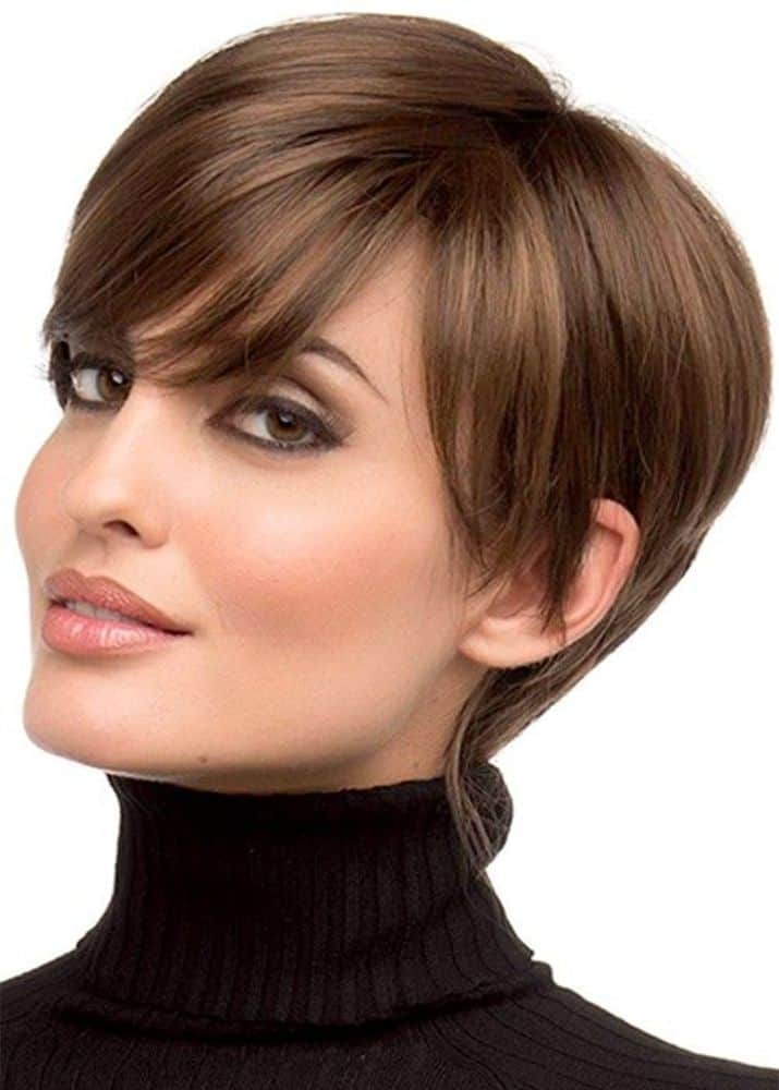 Pixie Cut Hairstyles Women's Side Part from WigsBuy.