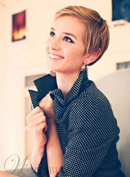 Stylish Short Straight Full Lace Pixie Cut from WigsBuy.