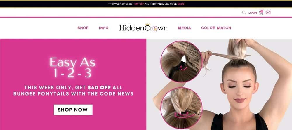 This is a screenshot of the Hidden Crown website.