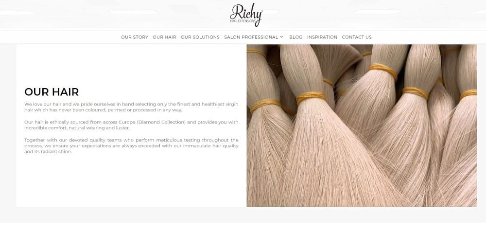 This is a screenshot of the Richy website.