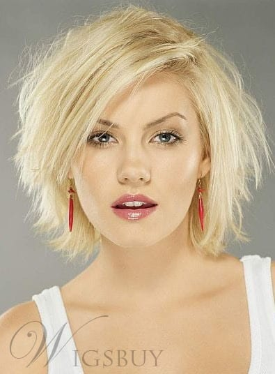 Carefree Layered Straight Blonde Lace Front Bob Wig Human Hair