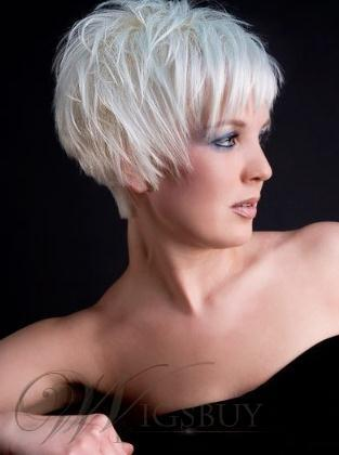Short Pixie Straight Blonde wig from Wigsbuy.