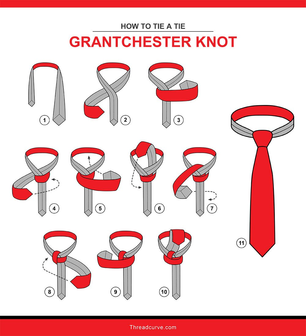 How to tie a grantchester knot (Illustration)