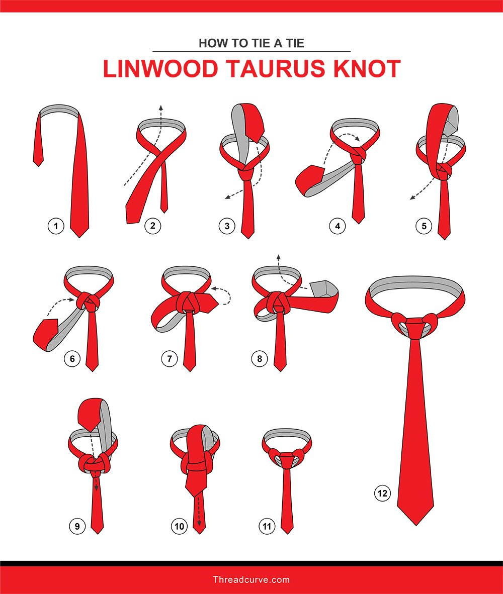 How to tie a linwood taurus knot (illustration)