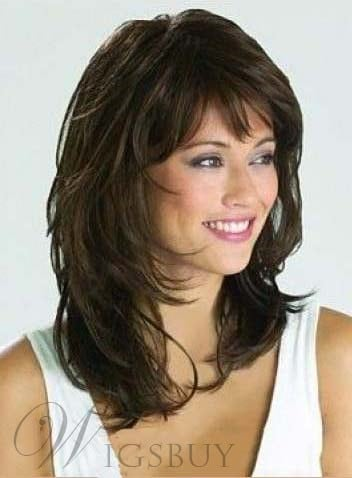 Medium Wavy Layered Cut Synthetic Capless Wig from WigsBuy.