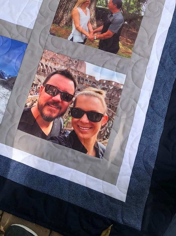 A customized photo quilt from etsy.